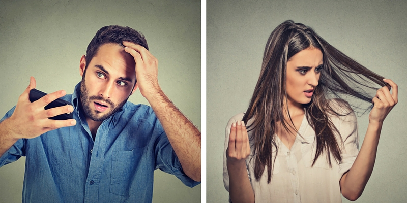 male and female causes of hair loss